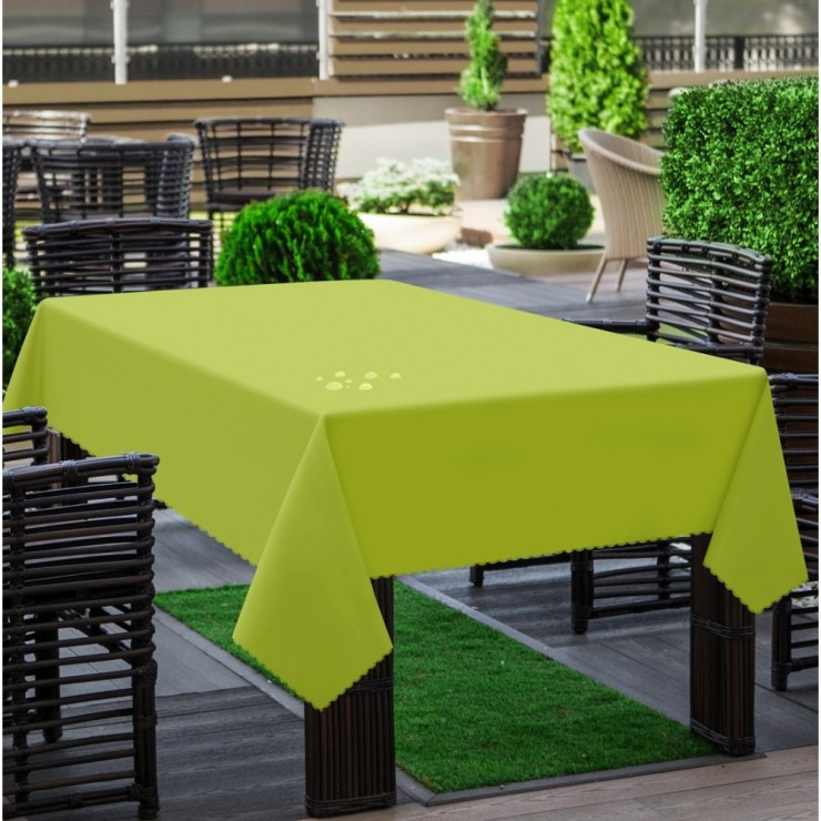 Garden tablecloth 290 olive green