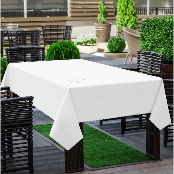 Garden tablecloth 290 white