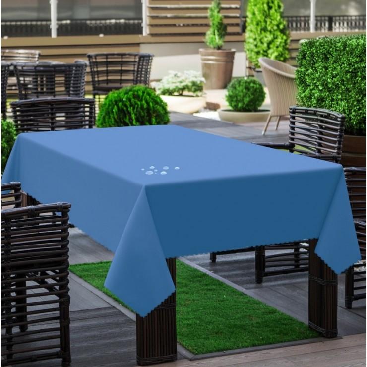 Garden tablecloth 290 dark light blue