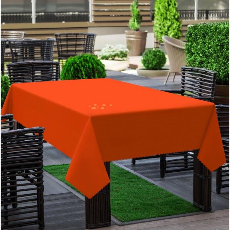 Garden tablecloth 290 dark orange