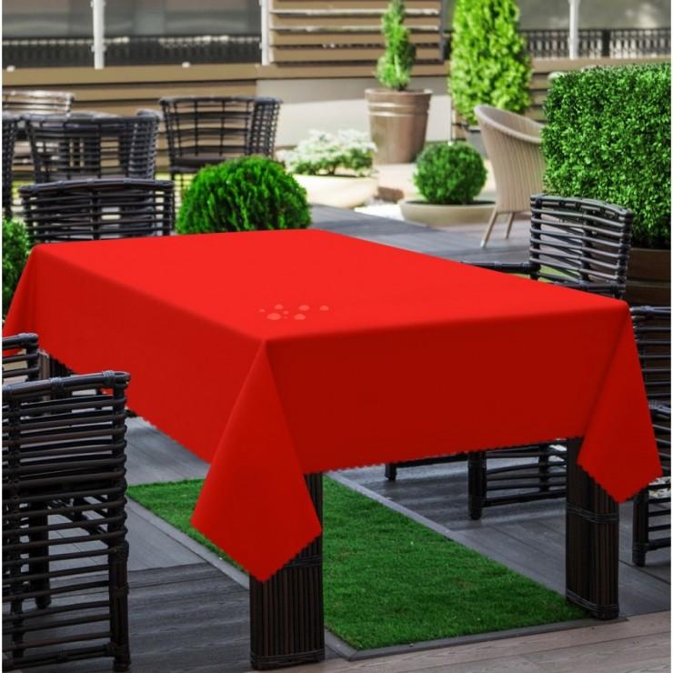 Garden tablecloth 290 light red