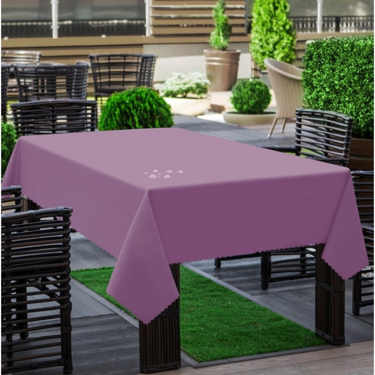 Garden tablecloth 290 powder pink