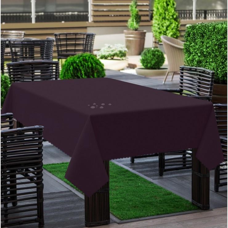 Garden tablecloth 290 dark plum