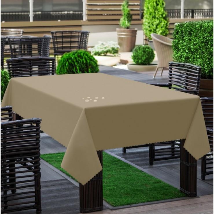 Garden tablecloth 290 dark beige