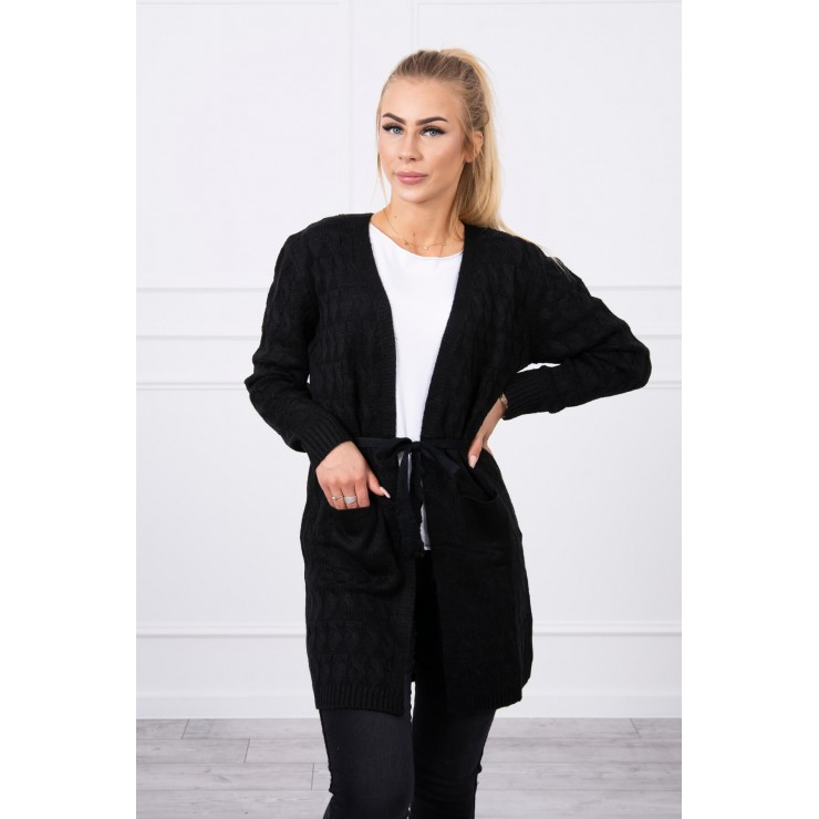 Women's sweater with a braid black