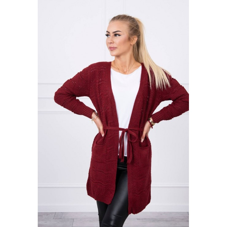 Women's sweater with waves brown
