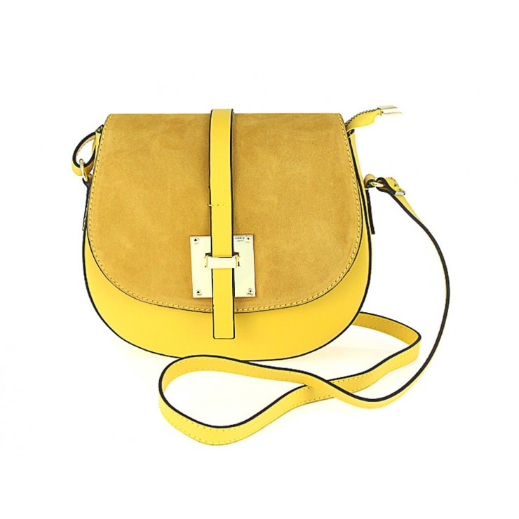 Genuine Leather Shoulder Bag 942 yellow