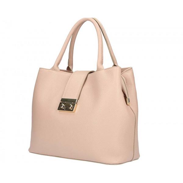 Ružová kožená kabelka 1137