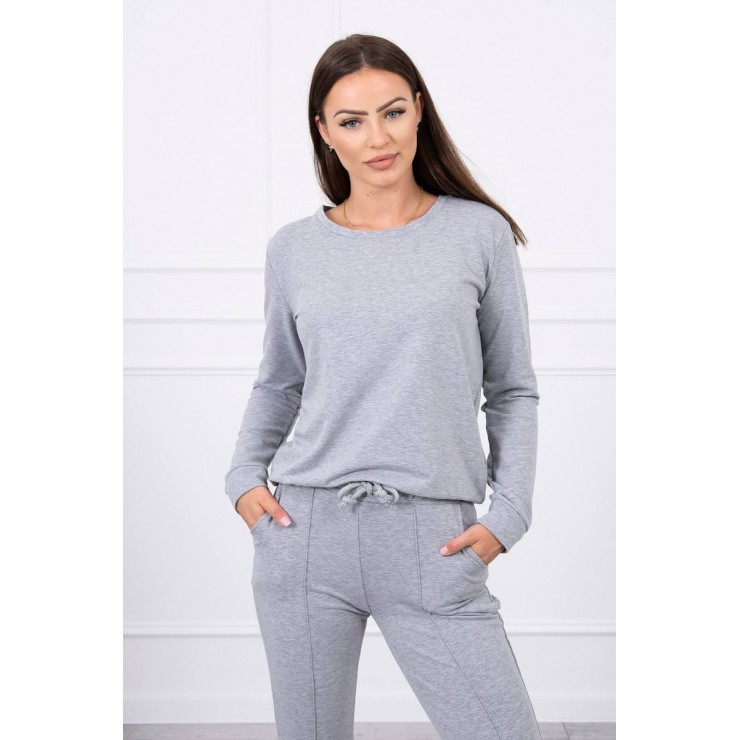 Women's sport set MI9090 gray