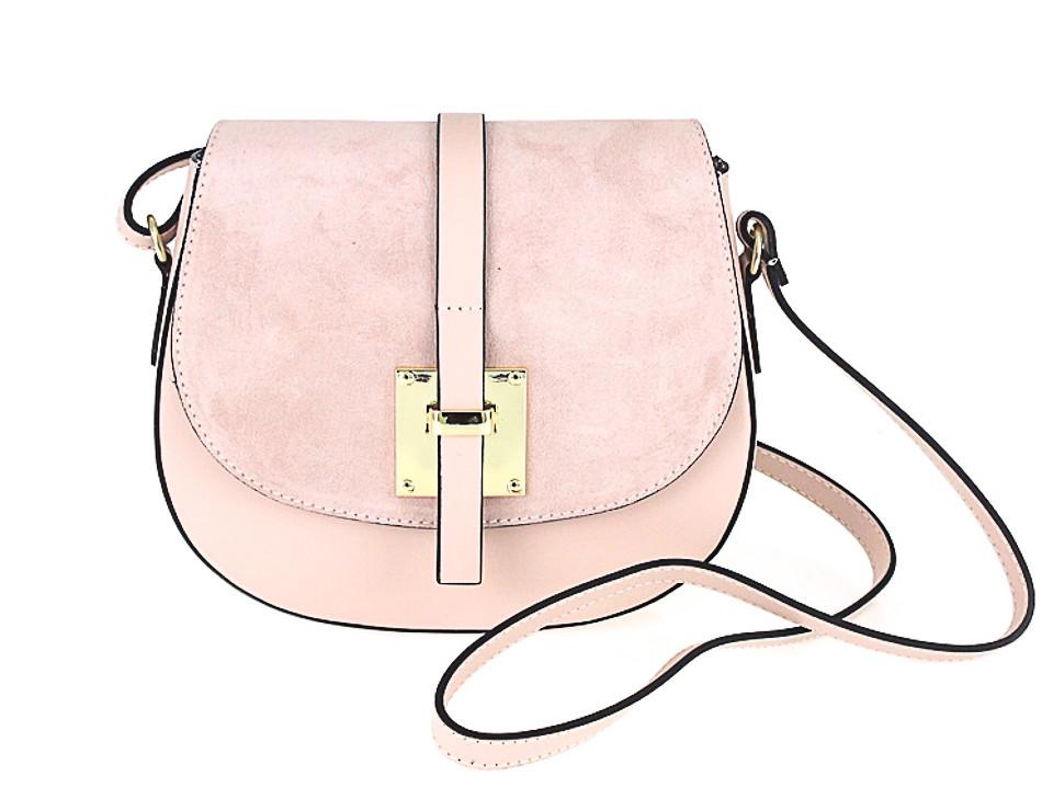 3e7d07bf80 Kožená kabelka na rameno 942 ružová - MONDO ITALIA s.r.o.