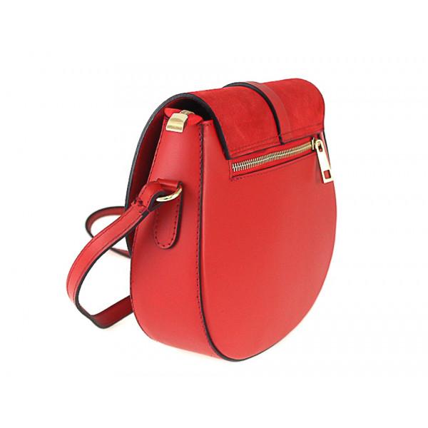 Kožená kabelka na rameno 942 ružová Ružová