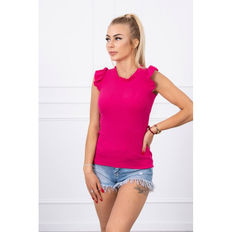 Women's T-shirt decorated with ruffles MI9092 fuxia