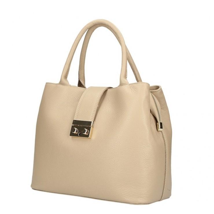 Šedohnedá kožená kabelka 5307