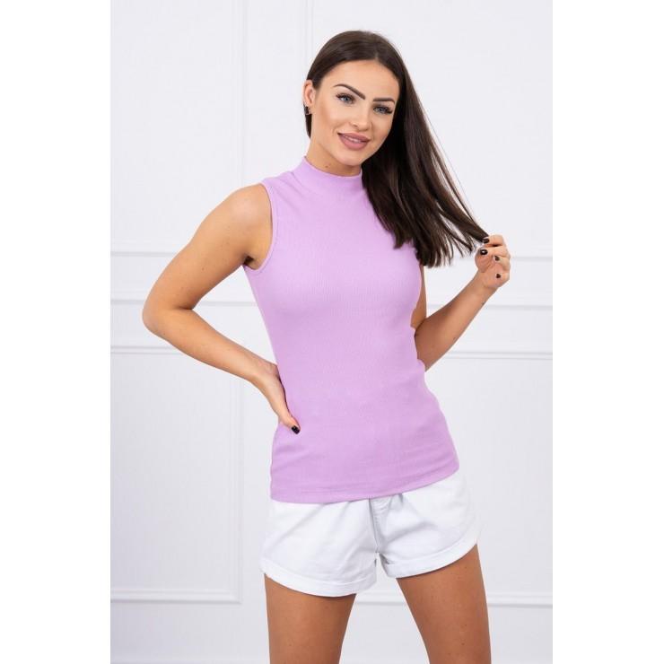 Dámske tričko bez rukávov MI8988 fialové