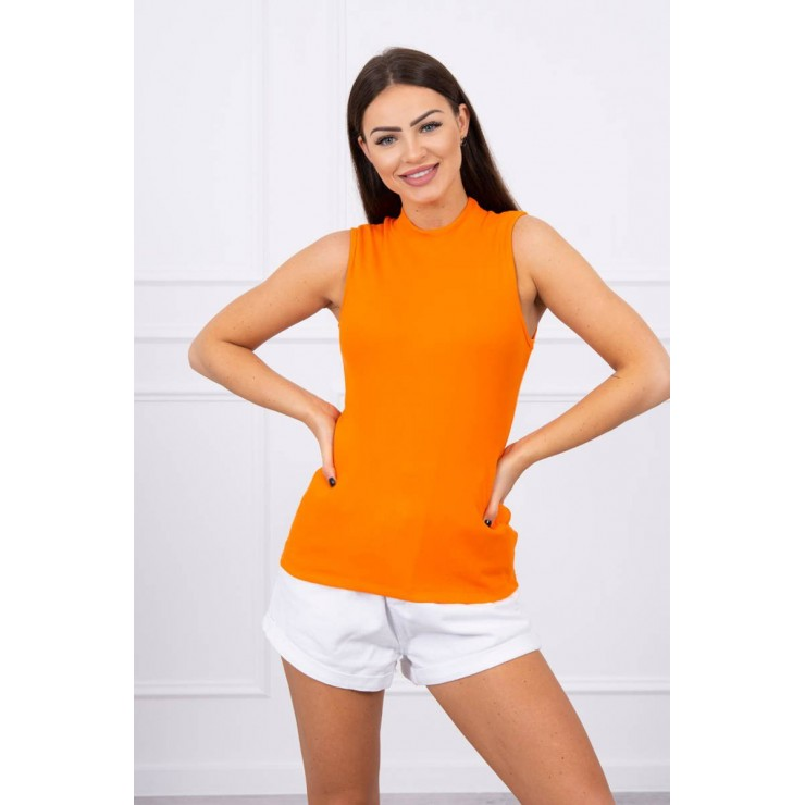 Dámske tričko bez rukávov MI8988 oranžové