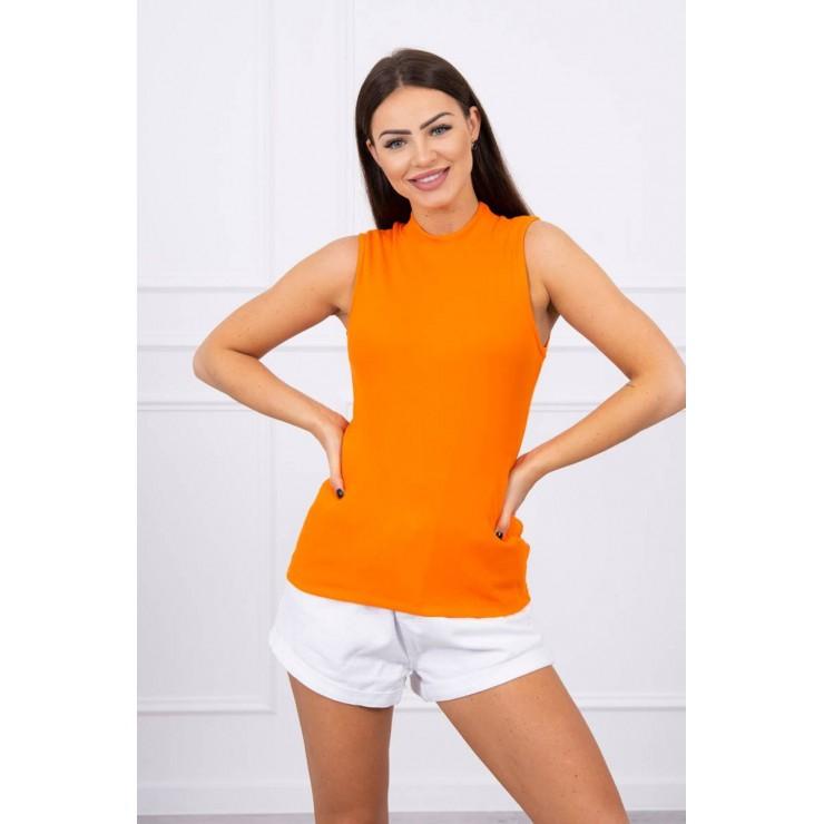 Dámské triko bez rukávů MI8988 oranžové