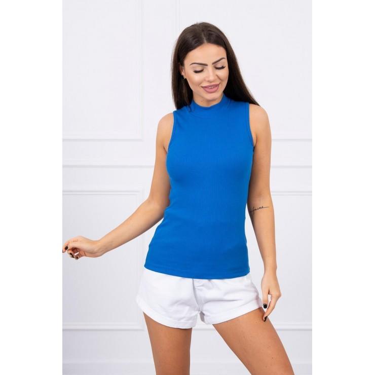 Dámské triko bez rukávů MI8988 azurově modré