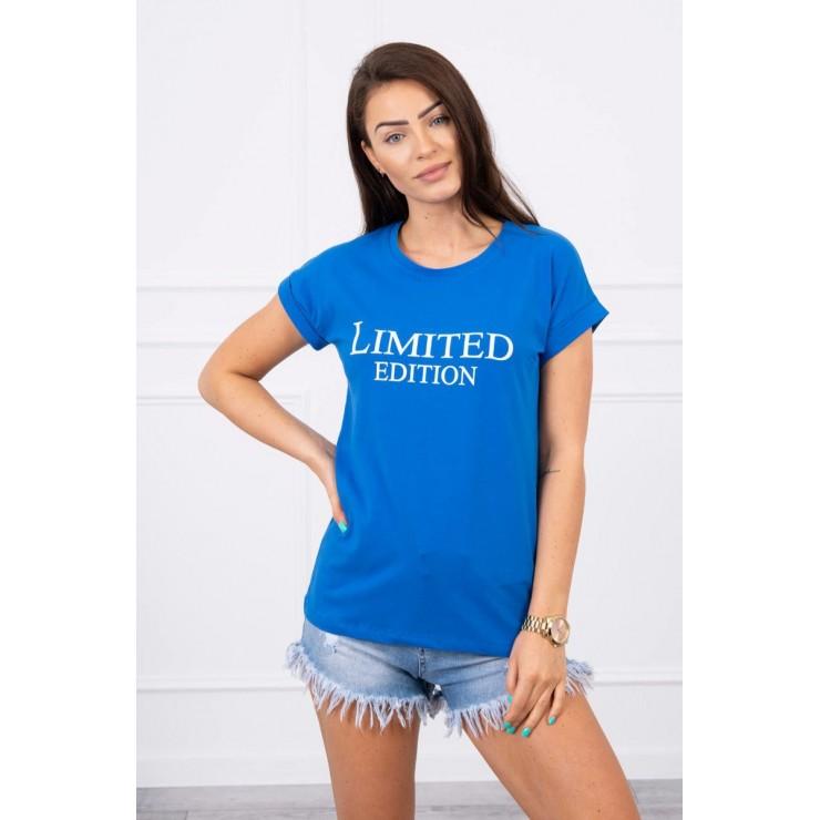 Dámske tričko LIMITED EDITION azurovo modré MI65296
