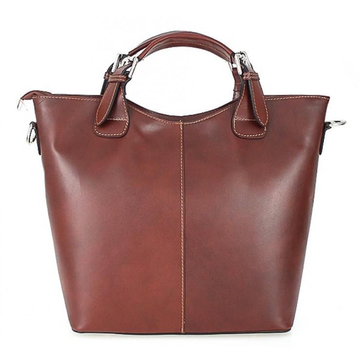 Kožená kabelka do ruky 69 hnedá