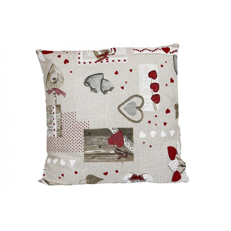 Pillowcase 40x40 cm red hearts