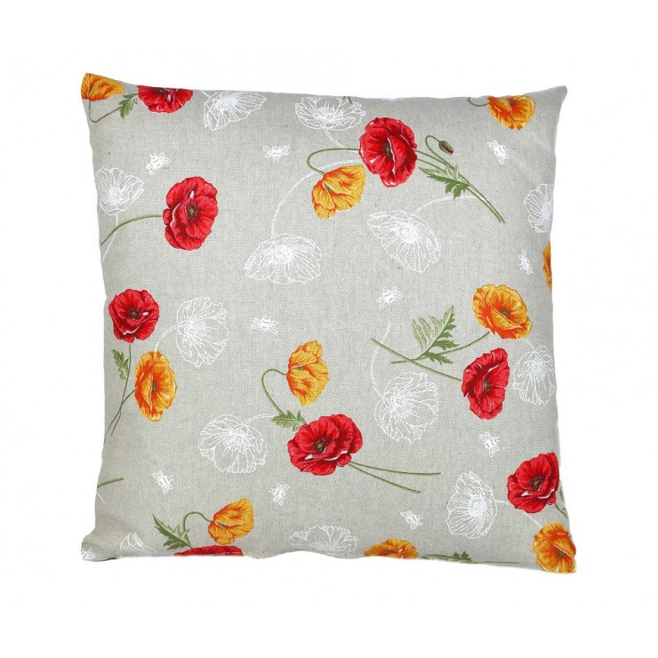 Pillowcase 40x40 cm orange wild poppies