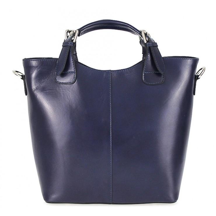 Kožená kabelka do ruky 69 modrá