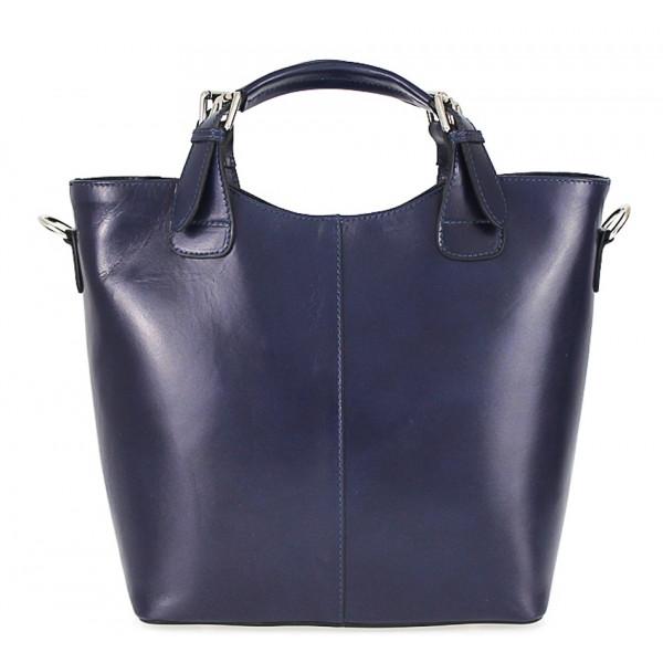 Kožená kabelka do ruky 69 modrá Modrá