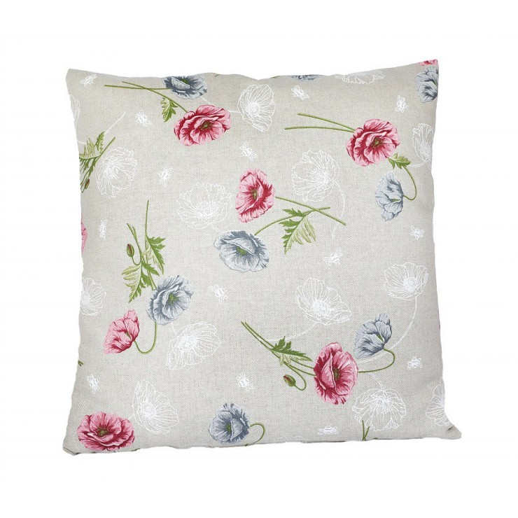 Pillowcase 40x40 cm powder pink wild poppies