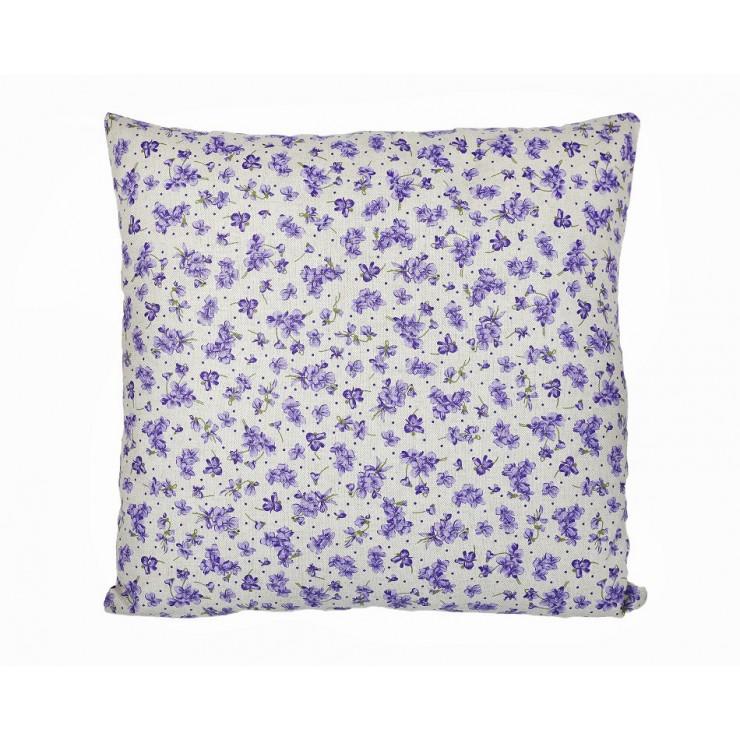 Obliečka na vankúš 40x40 cm fialové fialky