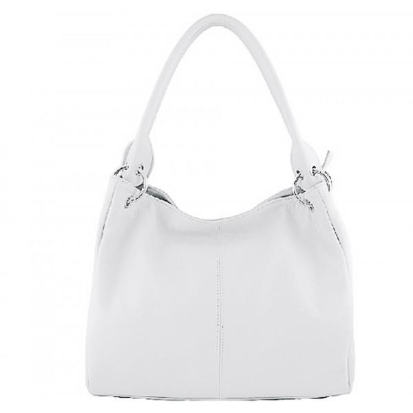 Dámska kožená kabelka 1107 biela