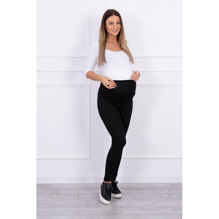 Tehotenské nohavice MI3672 čierne