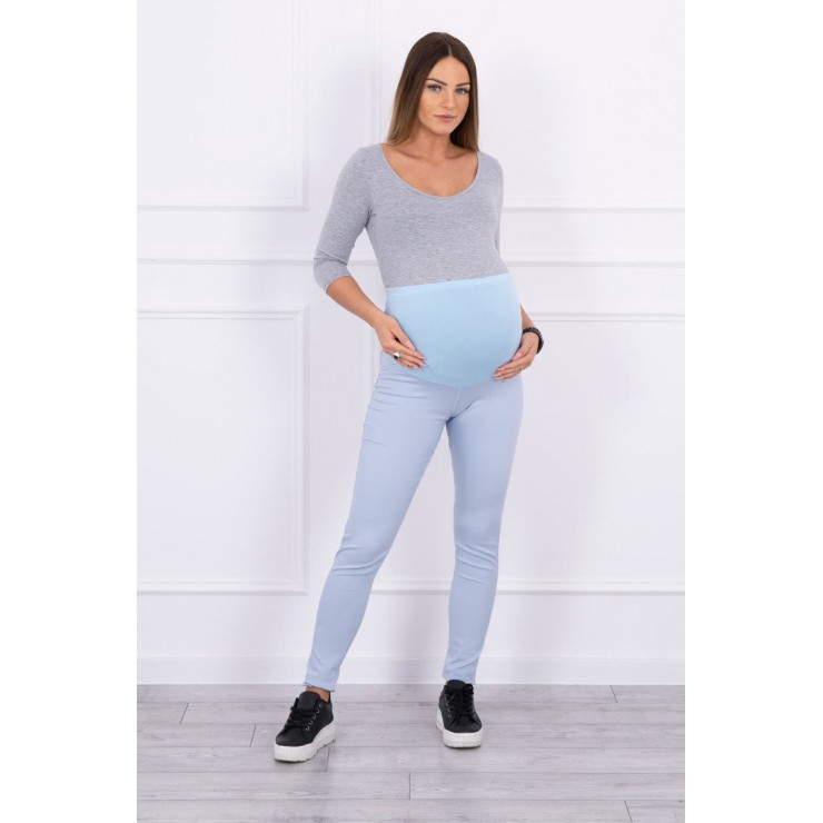 Tehotenské nohavice MI3672 svetlomodré