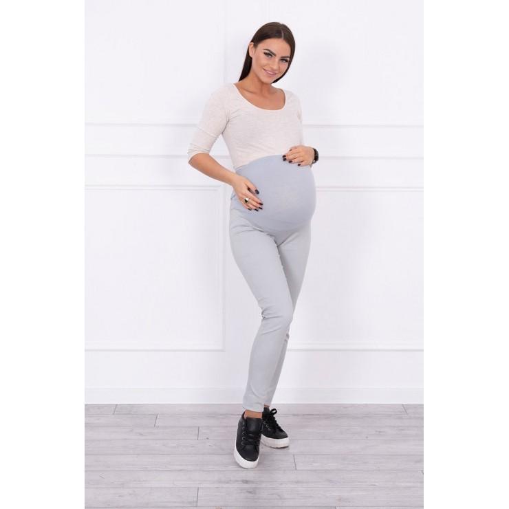 Tehotenské nohavice MI3672 šedé
