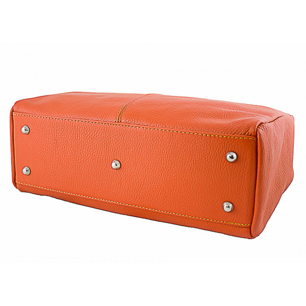 Dámska kožená kabelka 1107 tmavomodrá