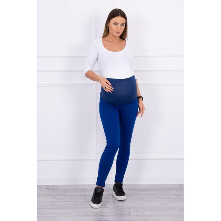 Těhotenské kalhoty MI3672 azurově modré
