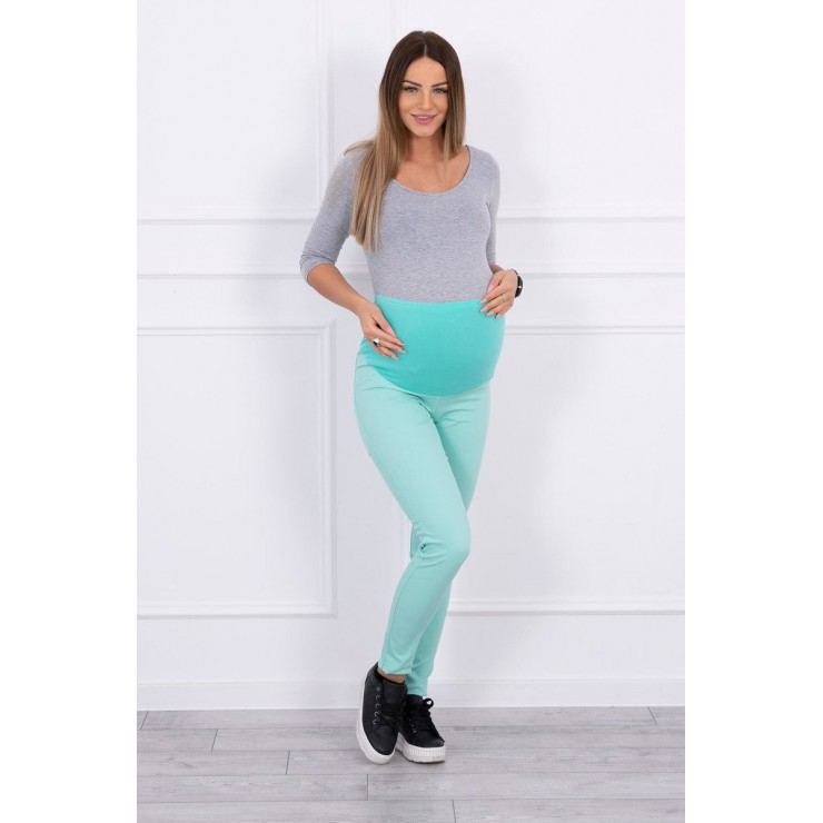 Těhotenské kalhoty MI3672 mátové