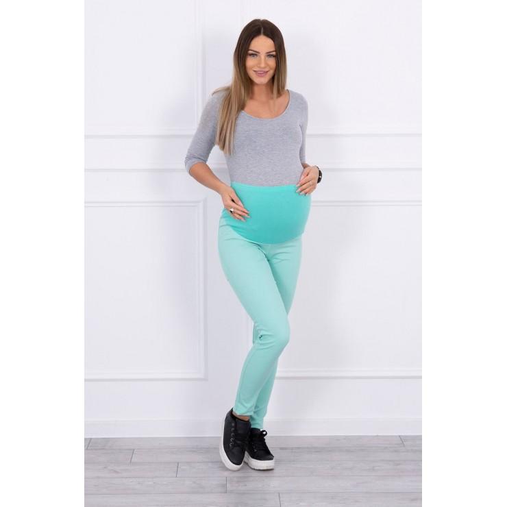 Tehotenské nohavice MI3672 mätové