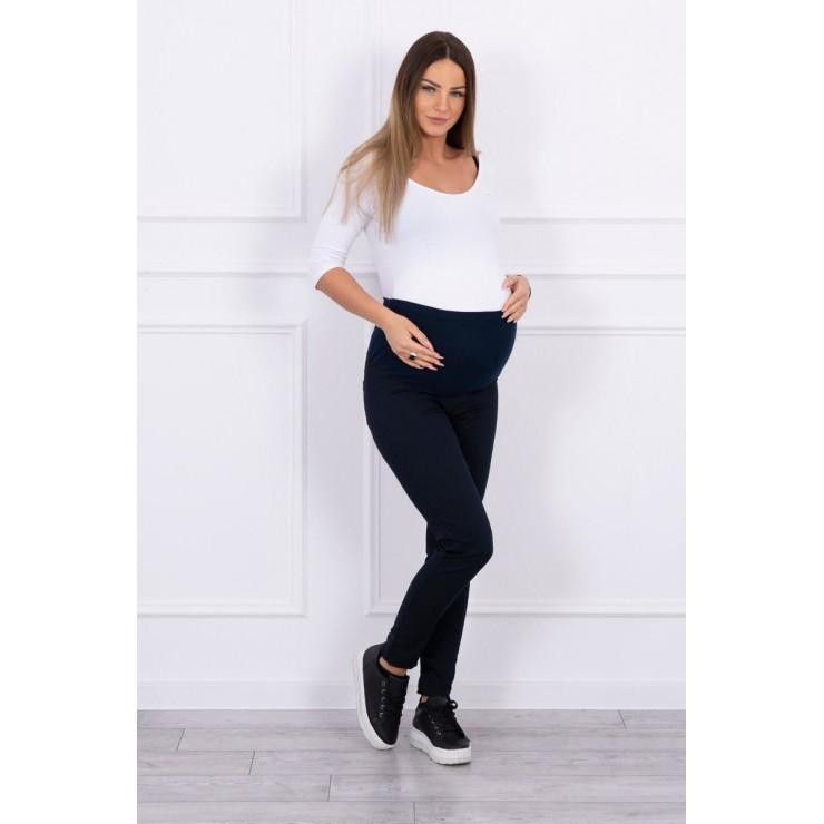 Tehotenské nohavice MI3672 tmavomodré
