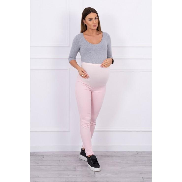 Těhotenské kalhoty MI3672 pudrově růžové