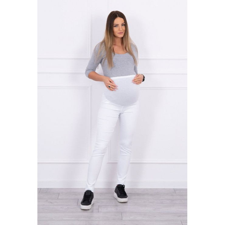 Tehotenské nohavice MI3672 biele