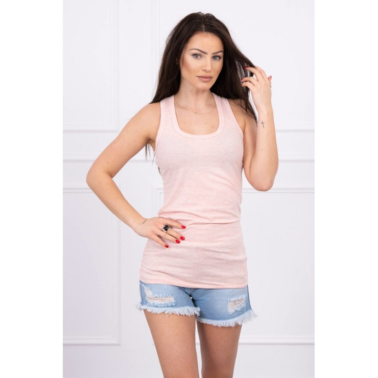 Long strappy top blouse MI6145 powder pink