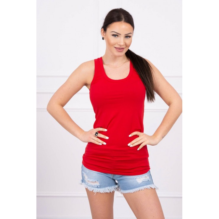 Long strappy top blouse MI6145 red