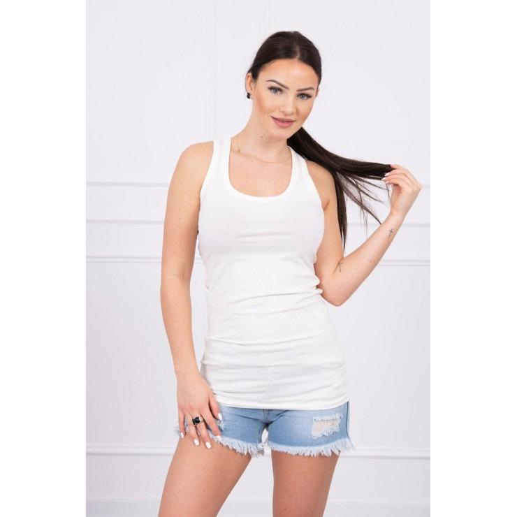 Long strappy top blouse MI6145 white