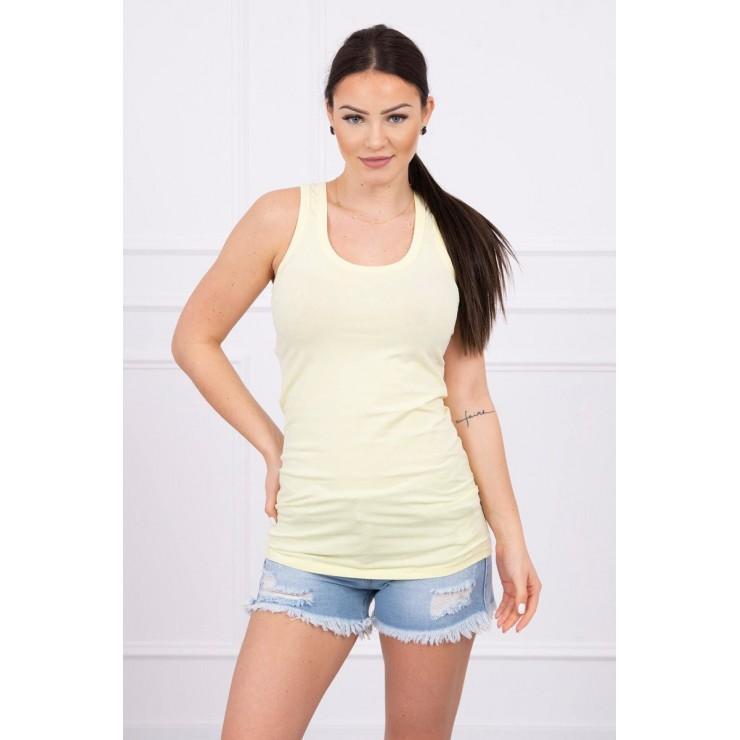 Long strappy top blouse MI6145 yellow