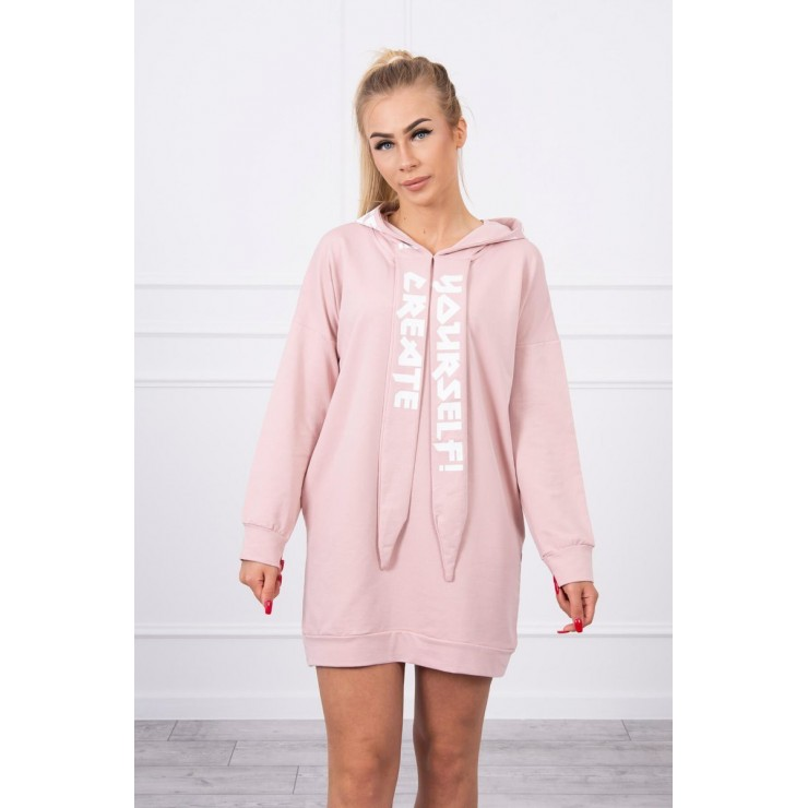 Dress with hood MI0042 powder pink