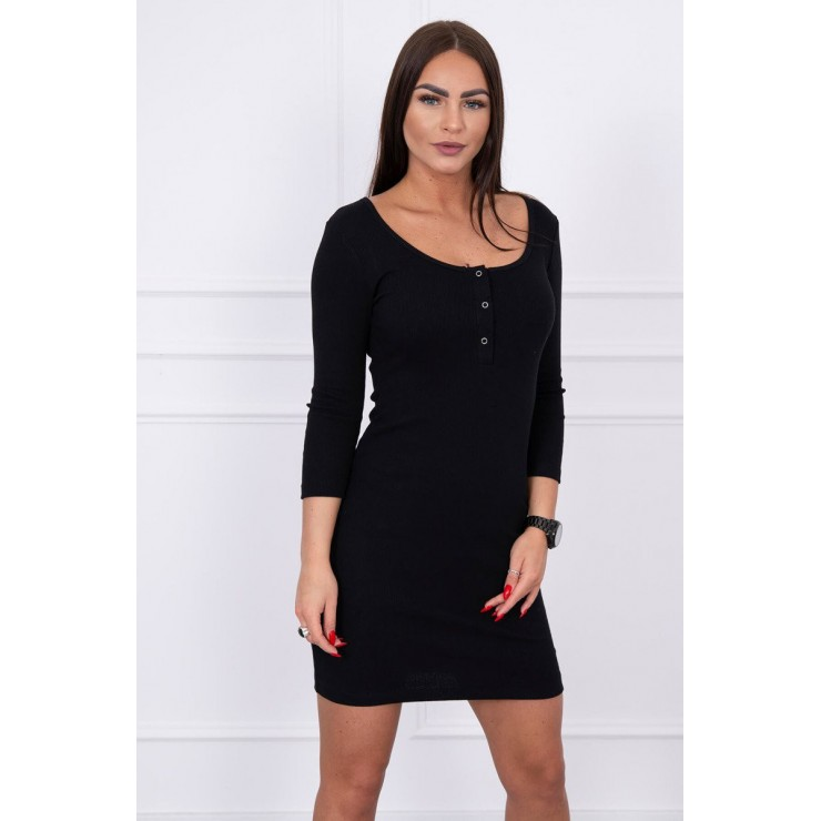 Dress with a neckline for naps black