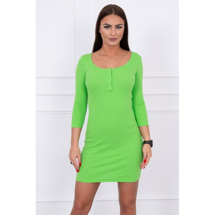 Dress with a neckline for naps green