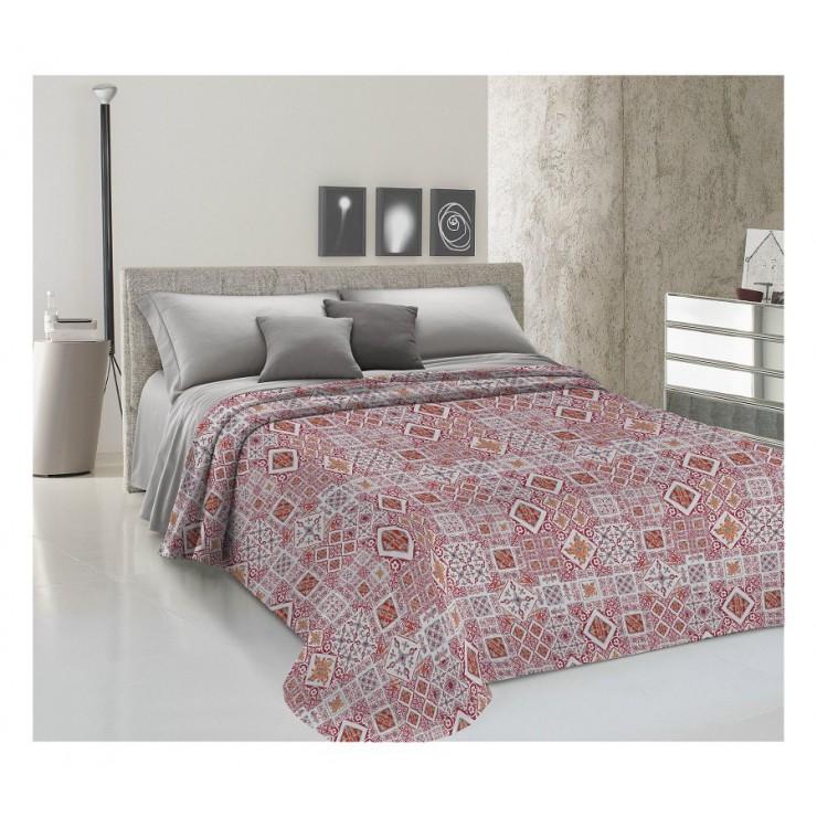 Prikrývka na posteľ Piquet Majolika červená