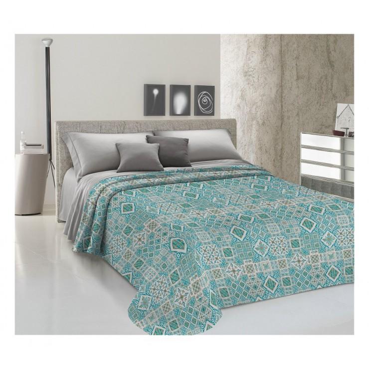 Prikrývka na posteľ Piquet Majolika zelená