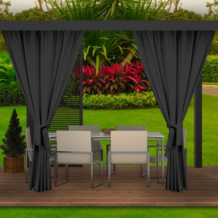 Garden curtain on the terrace MIG143 dark gray